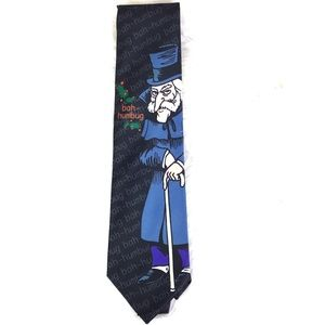 Ralph Marlin Scrooge tie Signed NWT